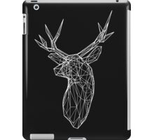 3D White Wire Stag Trophy Head iPad Case/Skin