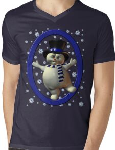 Happy Snowman, tee shirt Mens V-Neck T-Shirt