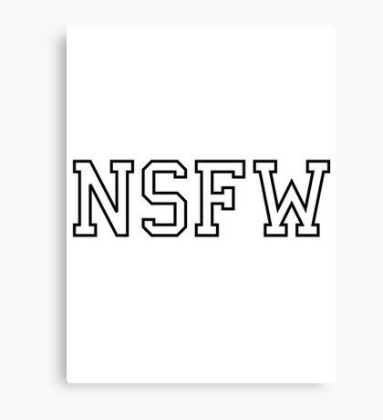 NSFW Canvas Print