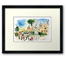 By The Cathedral In Palermo Framed Print