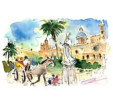 By The Cathedral In Palermo Photographic Print