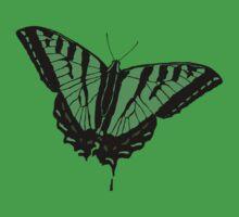 Butterfly - Green Kids Tee