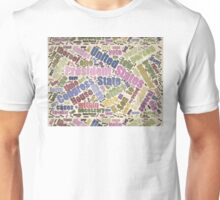Colorful Constitution Text Graphic Unisex T-Shirt