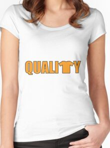 Quality Women's Fitted Scoop T-Shirt