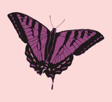 Butterfly - Pink Kids Tee