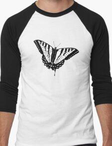 Butterfly - White Men's Baseball ¾ T-Shirt