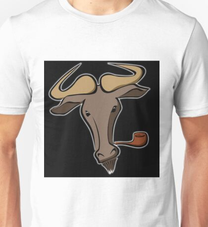 Bull with a Pipe Unisex T-Shirt