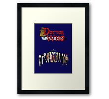 Doctor Who Time Framed Print