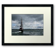 Sailing Into the Storm Framed Print