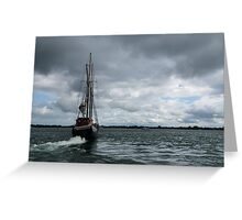 Sailing Into the Storm Greeting Card