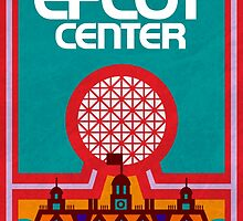 Retro Epcot Center Map Poster by e82designs