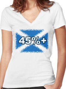 45% + FREE SCOTLAND Women's Fitted V-Neck T-Shirt