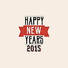 A retro Happy New Years Eve design by Mike Taylor