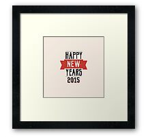 A retro Happy New Years Eve design Framed Print