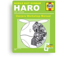 Gundam Haro Haynes Manual Green  Canvas Print
