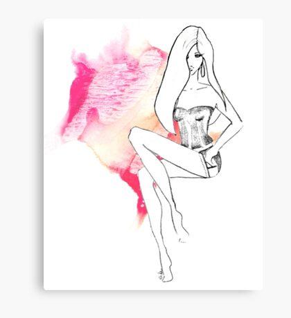 chic lingerie Canvas Print