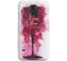 Viva Vino Wine Glass Samsung Galaxy Case/Skin