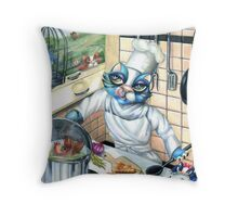 Drop on in for Dinner Throw Pillow