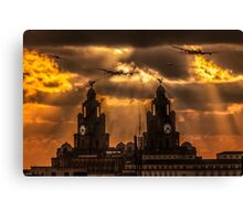 Warbirds and Liver Birds Canvas Print