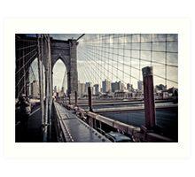 Brooklyn Bridge, New York Art Print