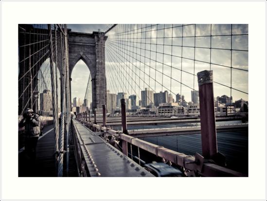 Brooklyn Bridge, New York by Jane Terekhov