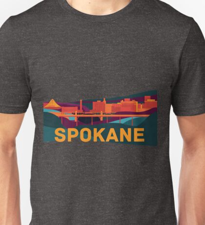 Abstract Spokane Cityscape Unisex T-Shirt