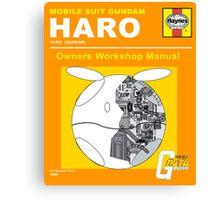 Gundam Haro Haynes Manual Orange Canvas Print