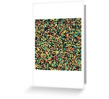A pixel art style background design Greeting Card
