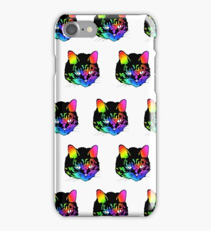 Psychedelic Kitty (ver. 2) iPhone Case/Skin