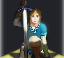 Legend of Zelda- Wii U Link- Kneel by StudioAcramill