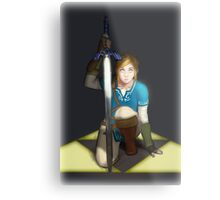 Legend of Zelda- Wii U Link- Kneel Metal Print
