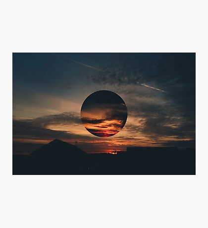 Red Sky Distorted Photographic Print