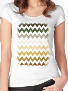 Cactus Garden Chevron 1 Women's Fitted Scoop T-Shirt