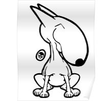 English Bull Terrier Smug Sit Poster