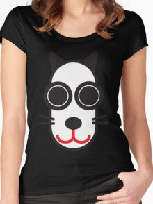MOODI cat, by m a longbottom - PLATFORM58 Women's Fitted Scoop T-Shirt