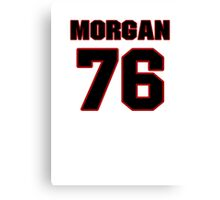 NFL Player Morgan Moses seventysix 76 Canvas Print
