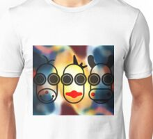MOODI FACES 01, by m a longbottom - PLATFORM58 Unisex T-Shirt