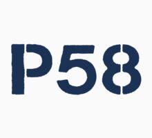 P58 - LOGO BLUE ON WHITE OR LIGHT T-Shirt