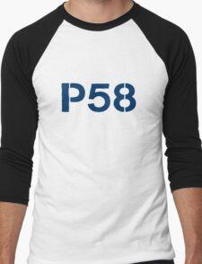 P58 - LOGO BLUE ON WHITE OR LIGHT Men's Baseball ¾ T-Shirt