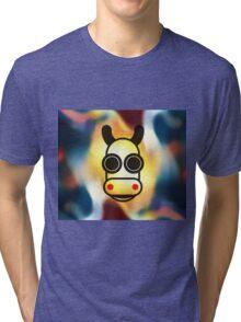 MOODI 1 cow, by m a longbottom - PLATFORM58 Tri-blend T-Shirt