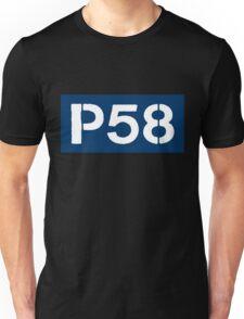 P58 - LOGO IN BLUE RECTANGLE Unisex T-Shirt