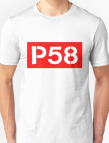 P58 - LOGO IN RED RECTANGLE Unisex T-Shirt