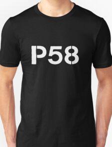 P58 - LOGO WHITE FOR DARK BACKGROUND Unisex T-Shirt