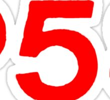 P58 - LOGO RED ON WHITE OR LIGHT Sticker