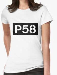 P58 - LOGO IN BLACK RECTANGLE Womens Fitted T-Shirt