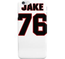 NFL Player Jake McDonough seventysix 76 iPhone Case/Skin
