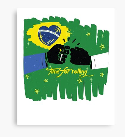 Brazilian Jiu-jittsu artwork - Time for rolling Canvas Print