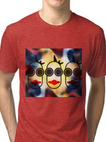 MOODI 3 face, by m a longbottom - PLATFORM58 Tri-blend T-Shirt