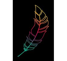Rainbow Feather Photographic Print