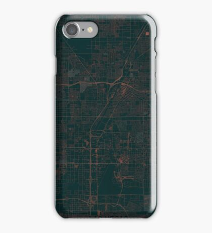 Las Vegas Map Red iPhone Case/Skin